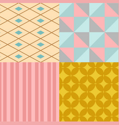 abstract geometry square seamless pattern vector image