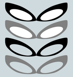 black mask and other color or female glasses vector image