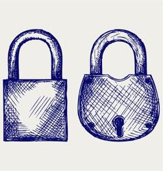 Closed locks security icon vector image vector image
