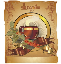 coffee paper vector image vector image