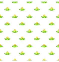 Field and sun pattern cartoon style vector