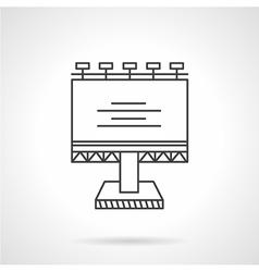 Illuminated billboard line icon vector image