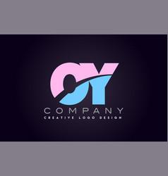 oy alphabet letter join joined letter logo design vector image vector image