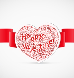 Valentines day greeting card with letters vector image vector image
