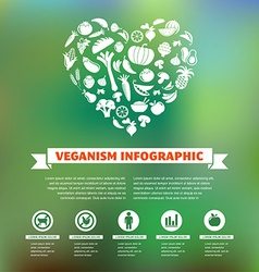 vegetarian and vegan healthy organic infographic vector image vector image