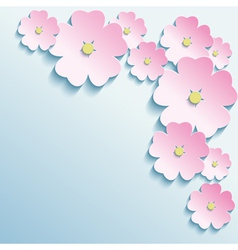 Abstract background with 3d flowers vector image vector image