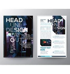 Abstract Brochure Flyer design Layout template vector image vector image
