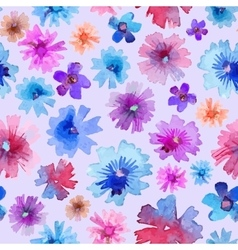 Abstract Watercolor Flower Pattern Modern Flower vector image