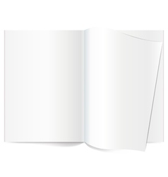 Book Spread With Blank White Pages vector image