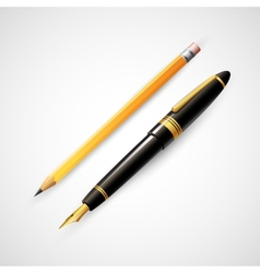 Pencils and pens vector image