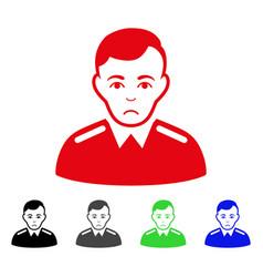 Sad officer icon vector
