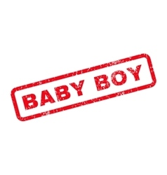 Baby Boy Text Rubber Stamp vector image