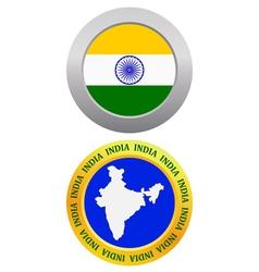 button as a symbol INDIA vector image