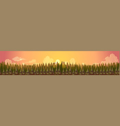 coniferous forest silhouette templatesummer vector image vector image