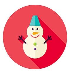 Flat Design Snowman Circle Icon vector image vector image