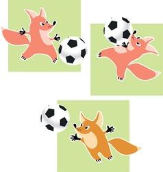 fox goalkeeper vector image vector image