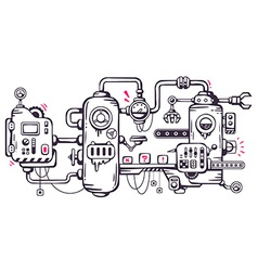 industrial background of the operating mecha vector image vector image