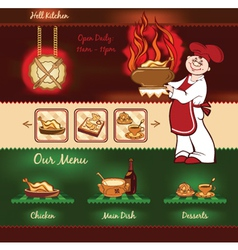 Kitchen template vector image vector image