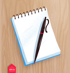 Top view of notepad vector