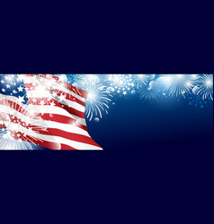 4th july usa independence day banner vector image