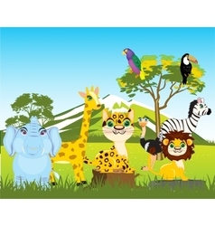 Animal world africas vector