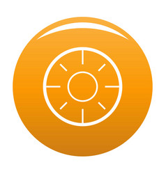 backsight icon orange vector image