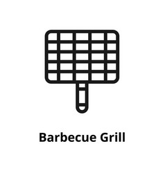 barbecue grill line icon vector image