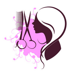 Beauty salon design vector