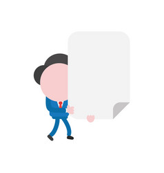 businessman character walking and holding blank vector image