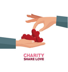 Charity share and love vector