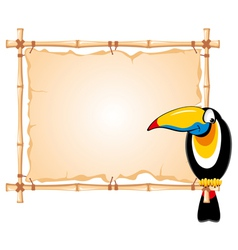 cheerful toucan vector image