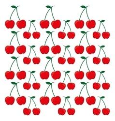 Cherry fruits background design vector
