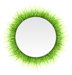 Circle label with green grass vector
