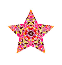 Colorful isolated abstract triangle ornament star vector