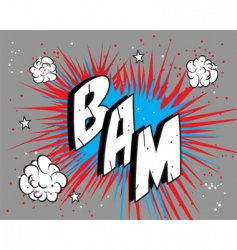 Comic book bam vector
