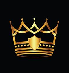 crown modern golden logo vector image