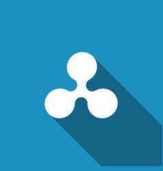 Cryptocurrency coin ripple xrp icon isolated vector