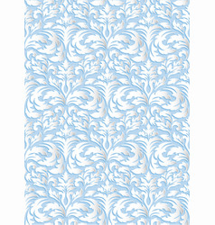 Damask seamless pattern background elegant luxury vector