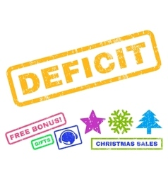 Deficit Rubber Stamp vector image