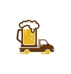 Delivery beer logo icon design vector