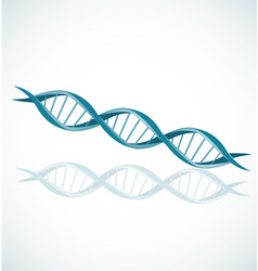 dna strand double helix spiral icon set vector image
