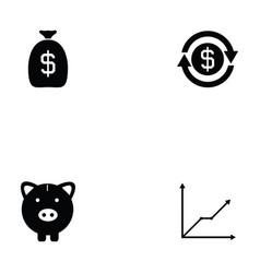 economy icon set vector image