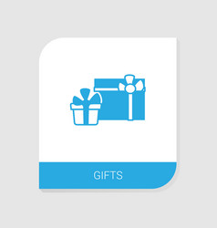 editable filled gifts icon from wedding icons vector image