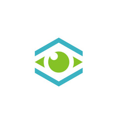eye monitor technology logo vector image