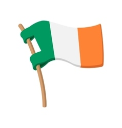 flag of ireland cartoon icon vector image