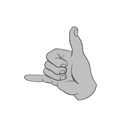 Gesture surfing icon black monochrome style vector image
