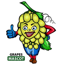 Grapes Mascot vector image