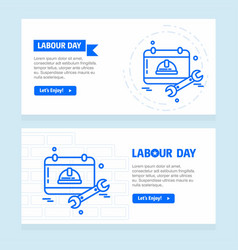 happy labour day design with blue theme vector image