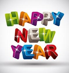 Happy new year color version vector