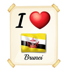 I love brunei vector